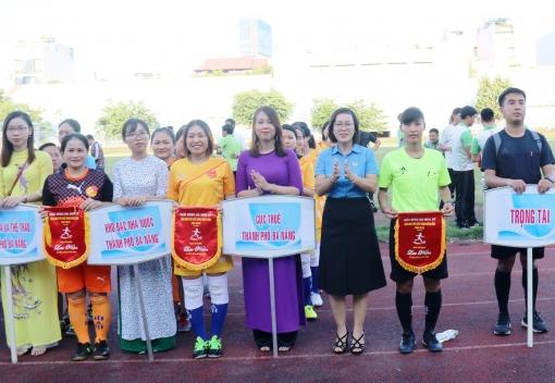 Công đoàn Viên chức khai mạc Giải bóng đá mini nữ