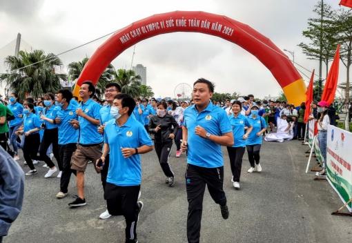 CNVCLĐ thành phố tham gia Ngày chạy Olympic 2021