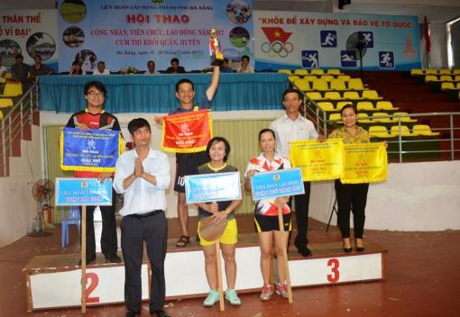 Bế mạc Hội thao CNVCLĐ Cụm thi đua khối quận, huyện.