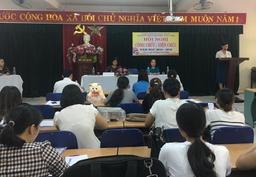 Hội nghị công chức, viên chức Trường THCS Nguyễn Văn Linh