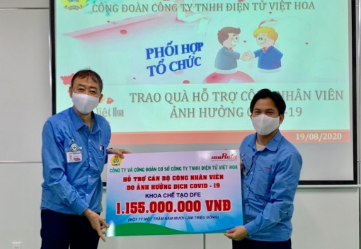 Công ty TNHH Điện tử Việt Hoa chăm lo tốt hơn đời sống người lao động trong dịch