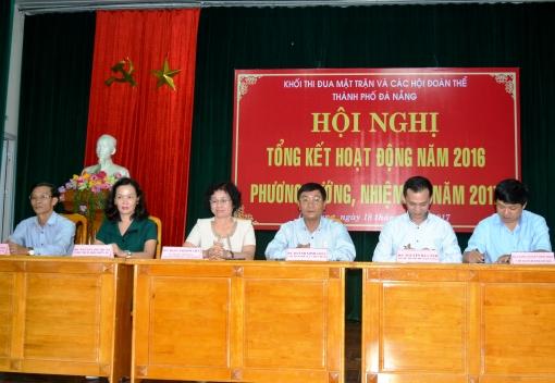Khối thi đua Mặt trận & các hội đoàn thể TP Đà Nẵng triển khai nhiệm vụ và ký kết giao ước thi đua năm 2017
