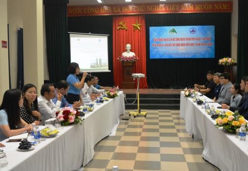 Công đoàn Viên chức thành phố Đà Nẵng tiếp, làm việc với Công đoàn Viên chức thành phố Daegu