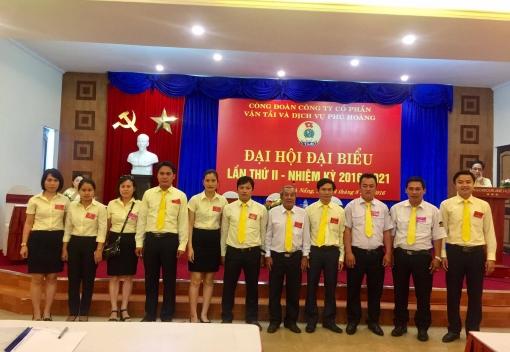 Đại hội đại biểu Công đoàn cơ sở Công ty CP Vận tải & Dịch vụ Phú Hoàng – Taxi Tiên Sa.