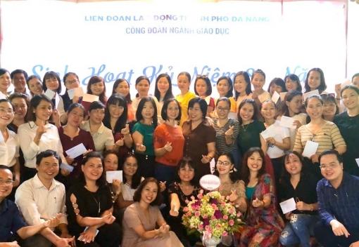 Ngành Giáo dục: tổ chức buổi giao lưu trong nữ cán bộ Công đoàn