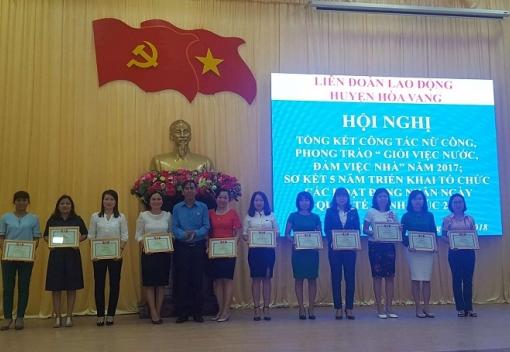 Nỗ lực phấn đấu của nữ CNVCLĐ huyện Hòa Vang