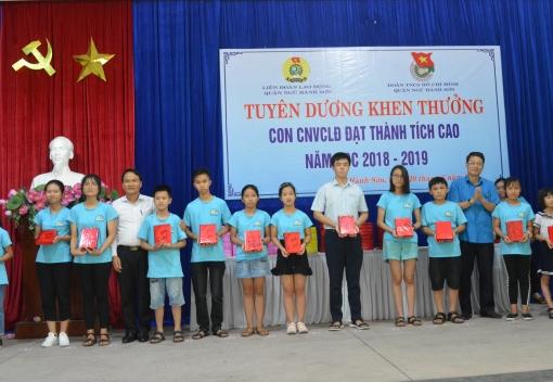 Ngũ Hành Sơn: Tuyên dương, khen thưởng con CNVCLĐ đạt thành tích cao trong học tập