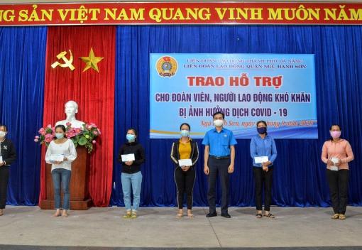 Hỗ trợ đoàn viên, người lao động có hoàn cảnh khó khăn tại quận Ngũ Hành Sơn