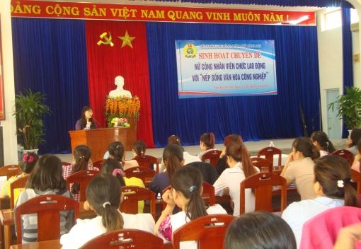 LĐLĐ quận Ngũ Hành Sơn: tổ chức sinh hoạt chuyên đề