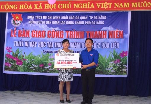 Đoàn cơ sở Liên đoàn Lao động thành phố Đà Nẵng bàn giao công trình thanh niên