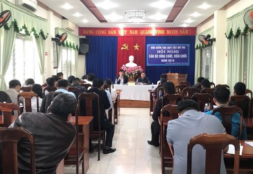 Liên Chiểu: Đội Kiểm tra quy tắc đô thị quận tổ chức Hội nghị cán bộ công chức