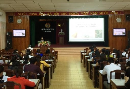 Liên đoàn Lao động quận Sơn Trà tập huấn công tác tài chính Công đoàn năm 2016