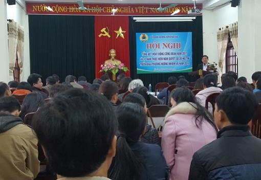 Hoà Vang: Tổng kết hoạt động Công đoàn năm 2017