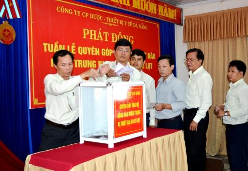 Công ty CP Dược - Thiết bị y tế Đà Nẵng phát động Tuần lễ quyên góp ủng hộ đồng bào miền Trung bị  thiệt hại do lũ lụt
