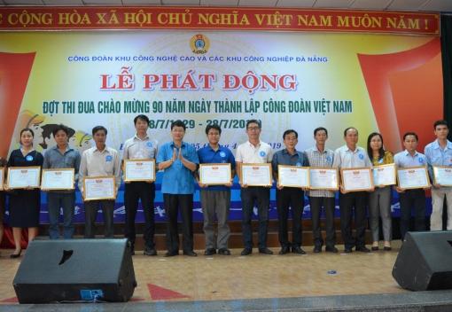 Phát động đợt thi đua chào mừng kỷ niệm 90 năm Ngày thành lập Công đoàn Việt Nam