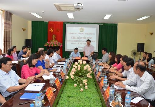 LĐLĐ TP Đà Nẵng thăm, trao đổi kinh nghiệm hoạt động Công đoàn tại Hải Phòng