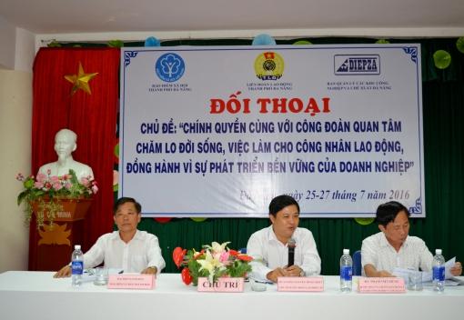 Liên đoàn Lao động - Bảo hiểm xã hội - Ban quản lý các KCN & CX ĐN tổ chức đối thoại
