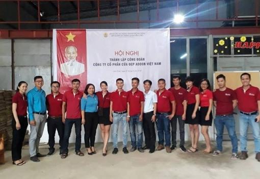 Liên Chiểu: Thành lập Công đoàn Công ty CP Cửa đẹp Adoor Việt Nam