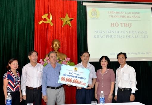 Hỗ trợ nhân dân huyện Hòa Vang vượt qua khó khăn do ảnh hưởng lũ lụt