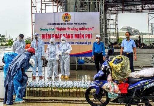 Tặng 10 nghìn lít xăng miễn phí cho người lao động các tỉnh về quê qua Đà Nẵng