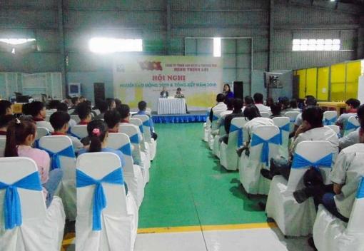 Công ty TNHH SX&TM Minh Thịnh Lợi tổ chức  Hội nghị người lao động năm 2019