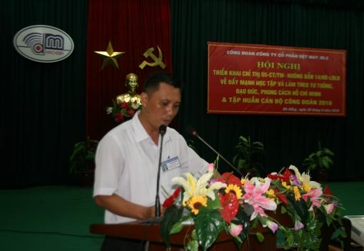 """Công ty CP Dệt may 29/3 triển khai Chỉ thị 05-CT/TW về """"Đẩy mạnh học tập và làm theo tư tưởng, đạo đức, phong cách Hồ Chí Minh"""""""