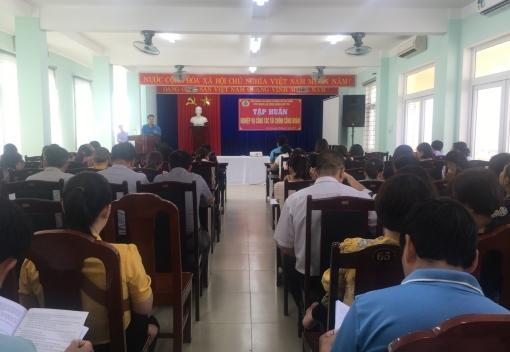 Sơn Trà: Tổ chức tập huấn công tác tài chính Công đoàn