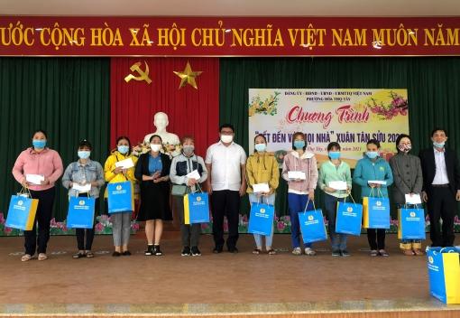 Thăm, chúc tết các Tổ công nhân tự quản khu nhà trọ