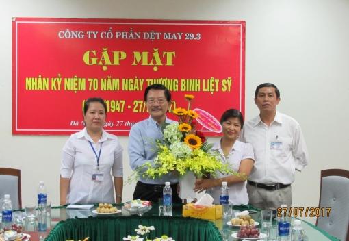 Công ty CP Dệt may 29/3 gặp mặt ngày Thương binh liệt sĩ