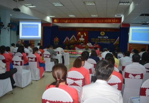 Đại hội lần thứ V Công đoàn cơ quan phường Tân Chính