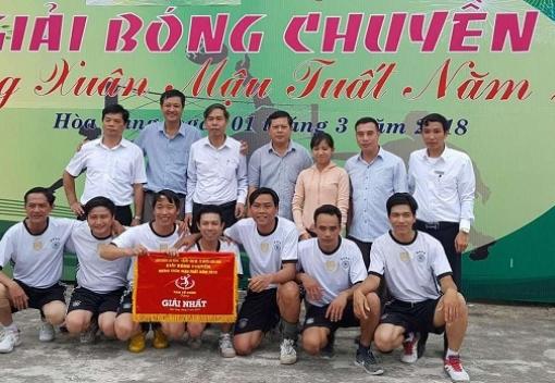 Hòa Vang: bế mạc giải bóng chuyền nam mừng Xuân Mậu Tuất