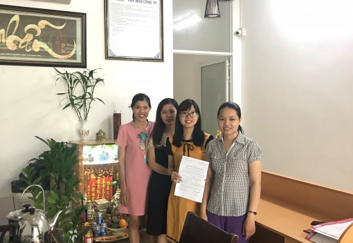 Liên Chiểu: Ra mắt CĐCS Công ty CP Xây dựng gốm sứ Việt Hương