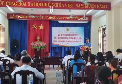 Hòa Vang: Tổ chức hội nghị sơ kết hoạt động Công đoàn quý I