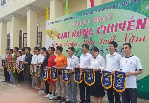 Hòa Vang: khai mạc giải bóng chuyền Mừng xuân Mậu Tuất năm 2018