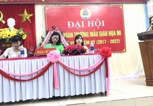 Công đoàn Trường Mầm non Họa Mi tổ chức Đại hội lần thứ VIII
