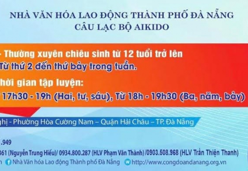 Thông báo chiêu sinh của các Câu lạc bộ Nhà Văn hóa Lao động thành phố Đà Nẵng