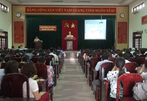 LĐLĐ huyện Hoà Vang tổ chức tuyên truyền pháp luật