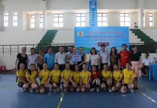 LĐLĐ quận Cẩm Lệ tổ chức Giải bóng đá nữ CNVCLĐ