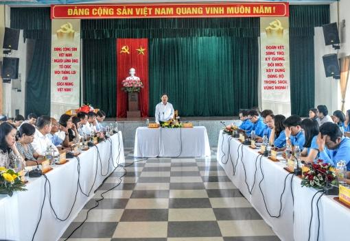 Phó Bí thư Thường trực Thành ủy Đà Nẵng làm việc với LĐLĐ thành phố