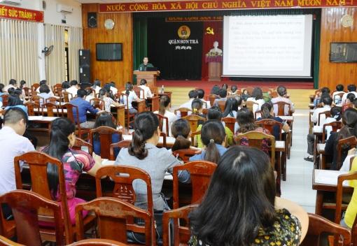 Sơn Trà: Tập huấn nghiệp vụ công tác tài chính Công đoàn