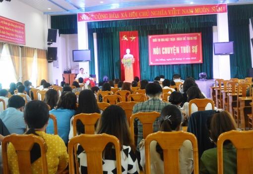 Khối thi đua Mặt trận – Đoàn thể thành phố tổ chức nói chuyện thời sự