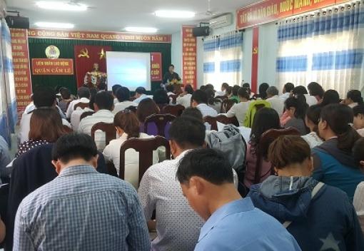 Cẩm Lệ: Tập huấn công tác tổ chức Đại hội Công đoàn các cấp