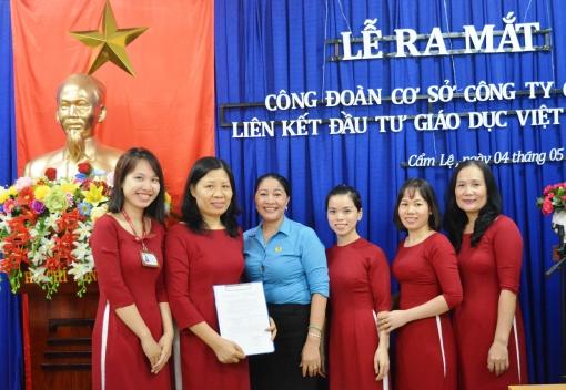 Cẩm Lệ: Ra mắt CĐCS Công ty CP liên kết đầu tư giáo dục Việt Nhật
