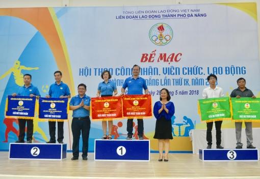 Bế mạc Hội thao CNVCLĐ thành phố Đà Nẵng lần thứ IX - năm 2018