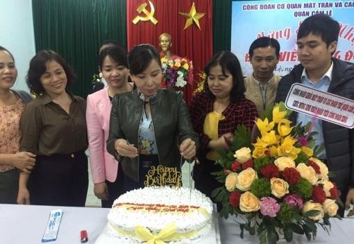 CĐCS Khối Mặt trận các đoàn thể quận Cẩm Lệ tổ chức sinh nhật đoàn viên.