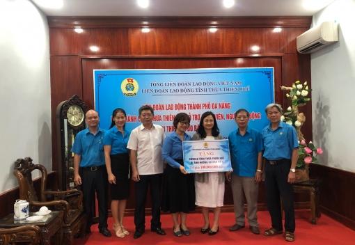 Hỗ trợ cho đoàn viên, CNVCLĐ tỉnh Thừa Thiên Huế bị ảnh hưởng bão số 5.