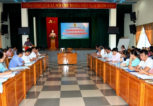 Liên đoàn Lao động TP Đà Nẵng tổ chức bồi dưỡng kiến thức chuyên sâu cho cán bộ chuyên trách Công đoàn năm 2016.