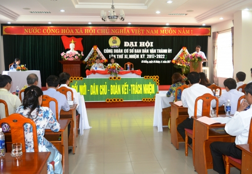 Ban Dân vận Thành ủy: Đại hội Công đoàn lần thứ XI