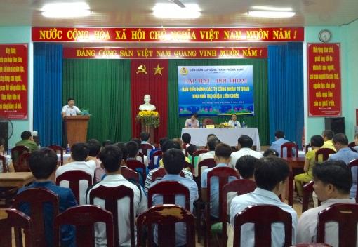 LĐLĐ thành phố Đà Nẵng đối thoại với công nhân
