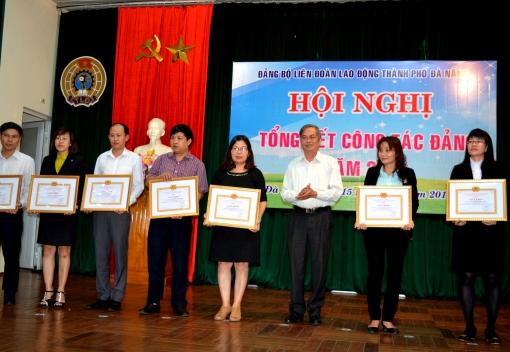 Đảng bộ Liên đoàn Lao động thành phố Đà Nẵng:                             tổ chức Hội nghị tổng kết công tác Đảng năm 2016